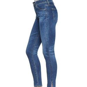 AG Farrah Skinny High Rise Split Ankle Jeans EUC